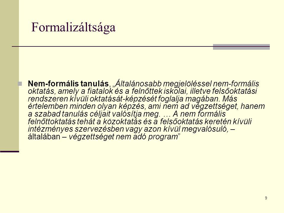Formalizáltsága