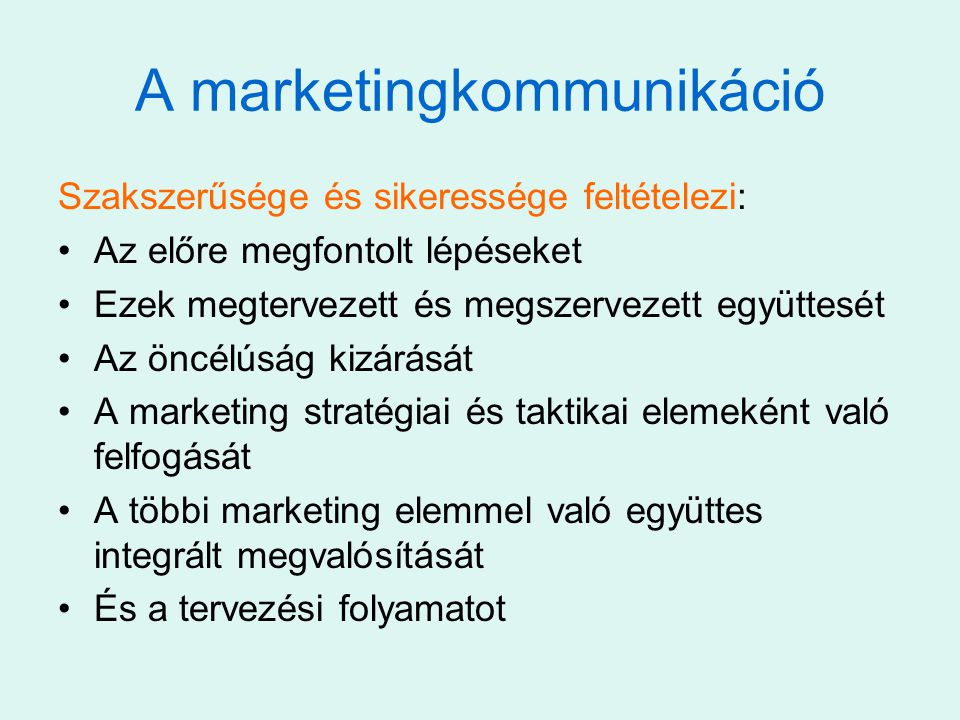 A marketingkommunikáció