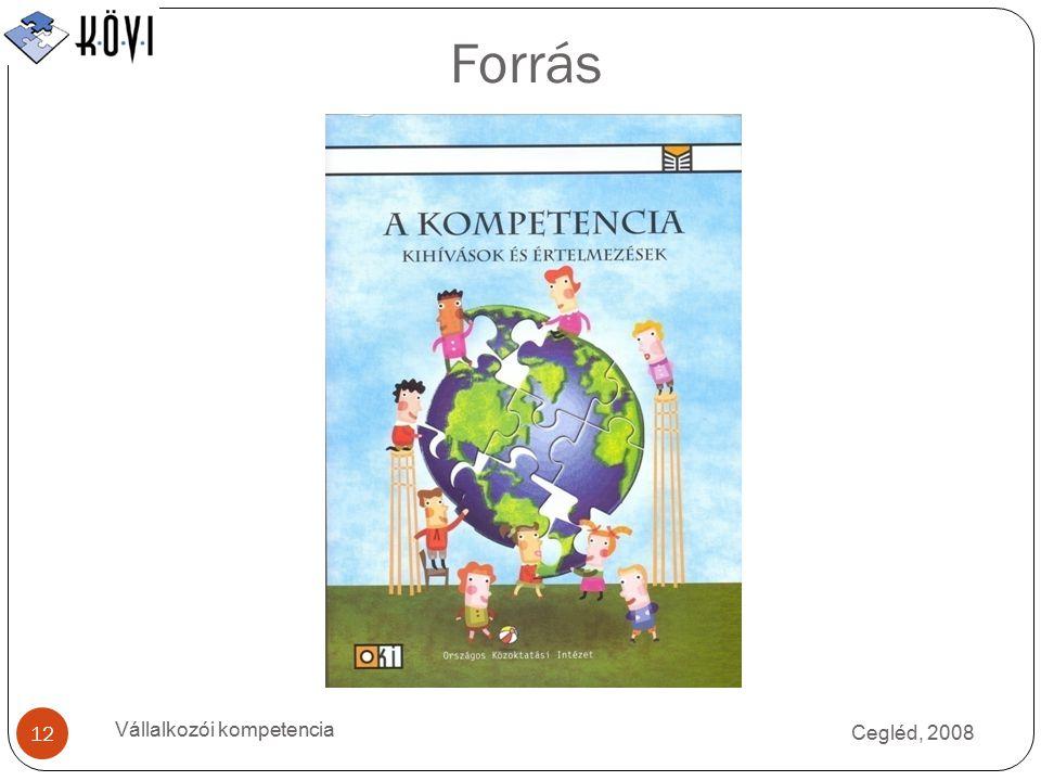Forrás Vállalkozói kompetencia Cegléd, 2008