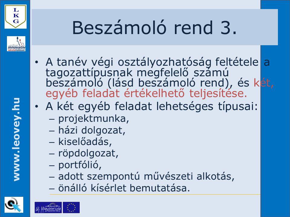 Beszámoló rend 3.