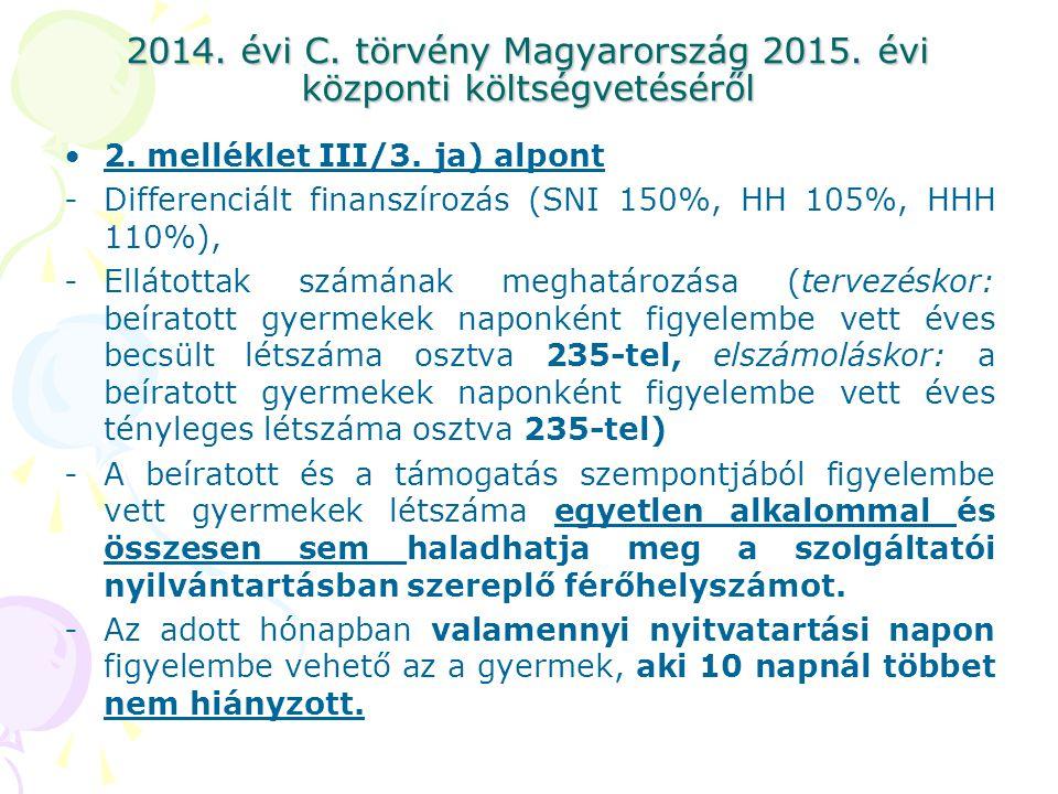 2014. évi C. törvény Magyarország 2015. évi központi költségvetéséről