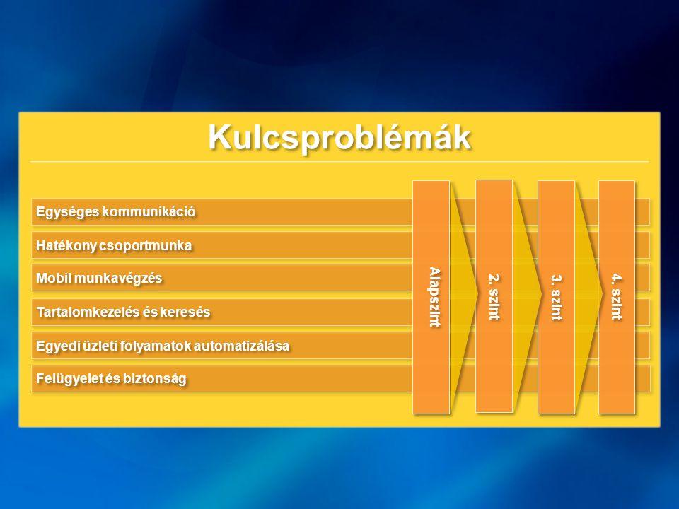 Kulcsproblémák 4. szint 3. szint 2. szint Alapszint