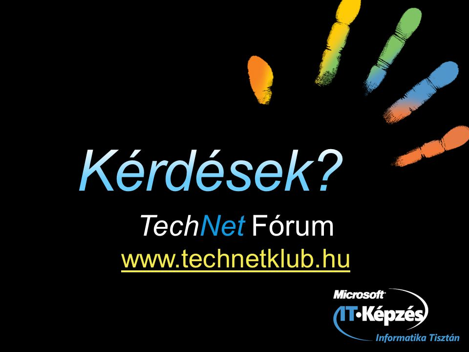 TechNet Fórum www.technetklub.hu