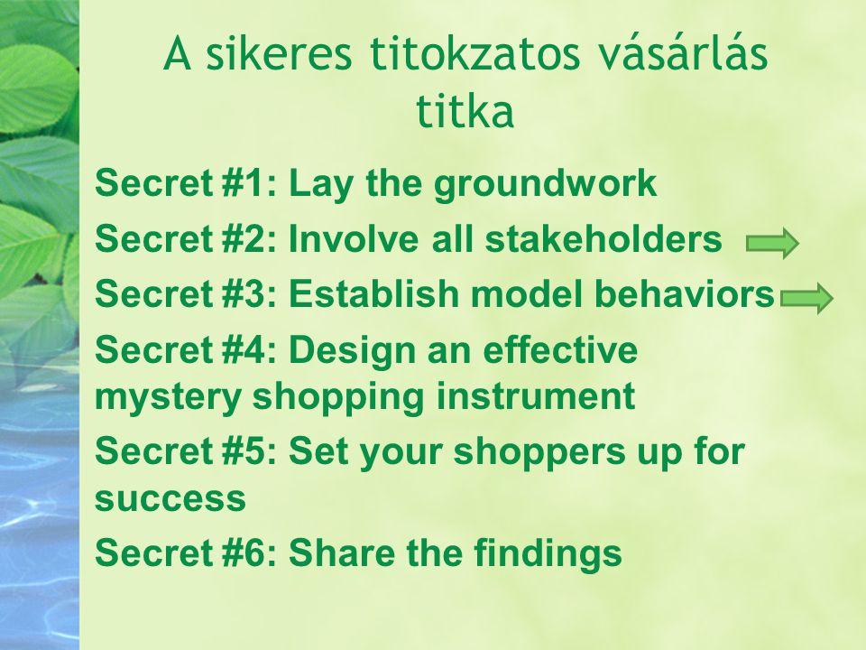 A sikeres titokzatos vásárlás titka