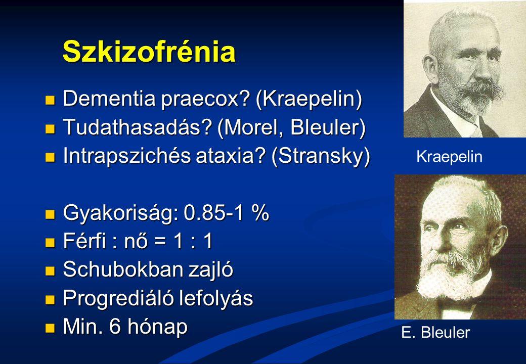 Szkizofrénia Dementia praecox (Kraepelin)