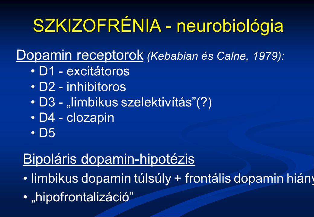 SZKIZOFRÉNIA - neurobiológia