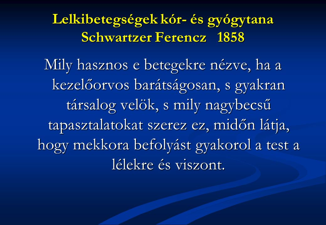 Lelkibetegségek kór- és gyógytana Schwartzer Ferencz 1858