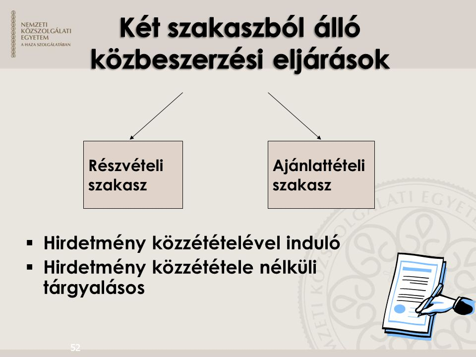 Két szakaszból álló közbeszerzési eljárások