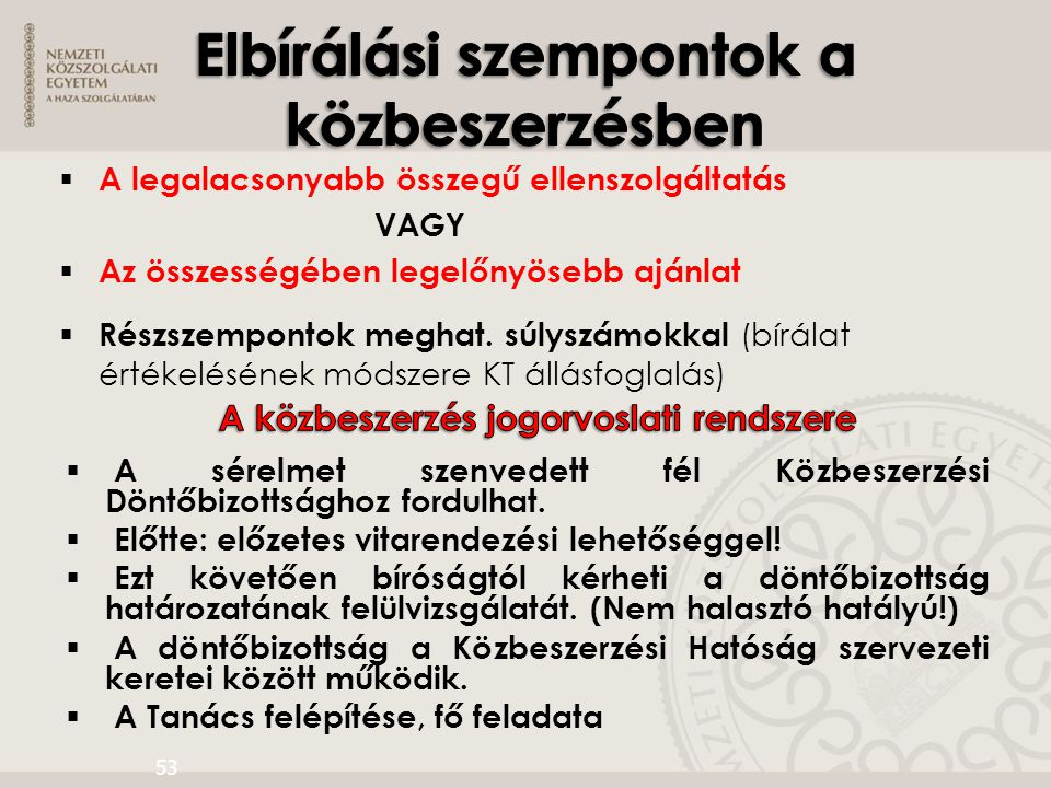 A közbeszerzés jogorvoslati rendszere