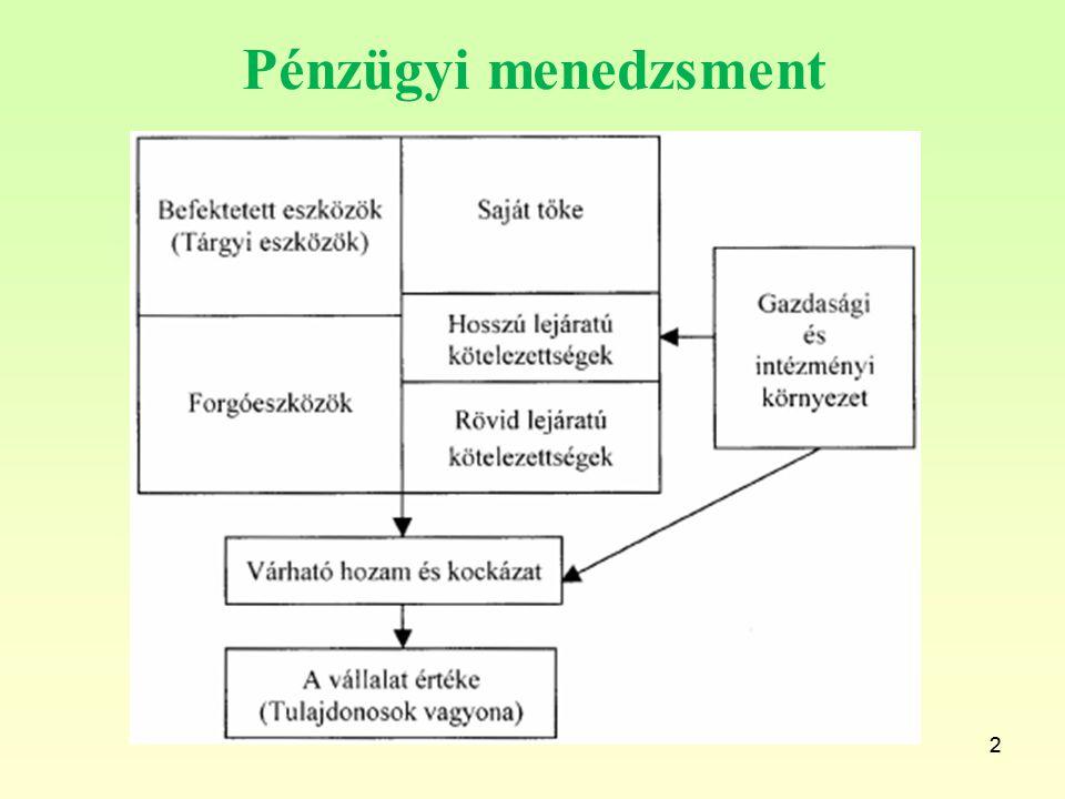 Pénzügyi menedzsment 2