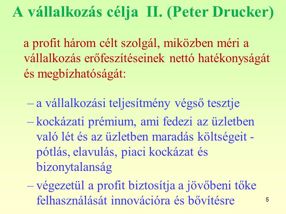 A vállalkozás célja II. (Peter Drucker)
