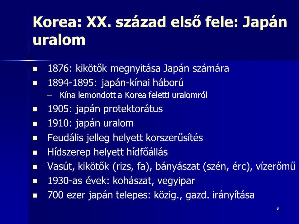 Korea: XX. század első fele: Japán uralom