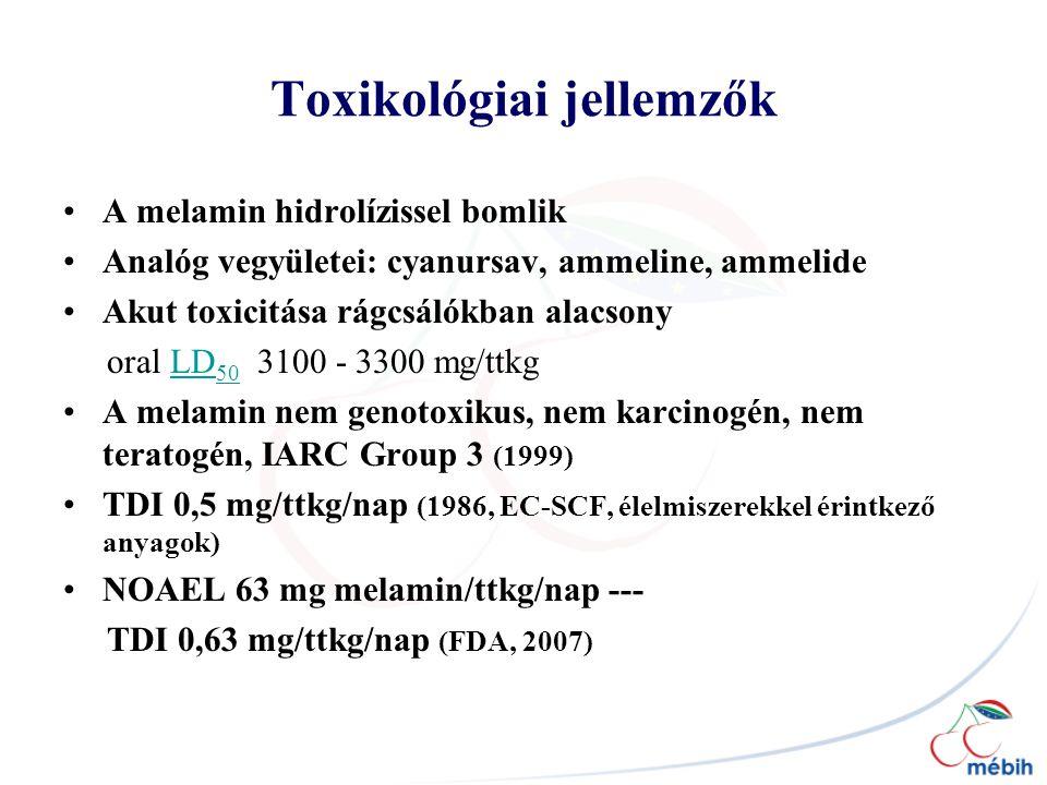 Toxikológiai jellemzők