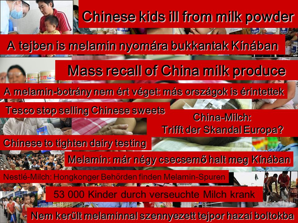 Mass recall of China milk produce
