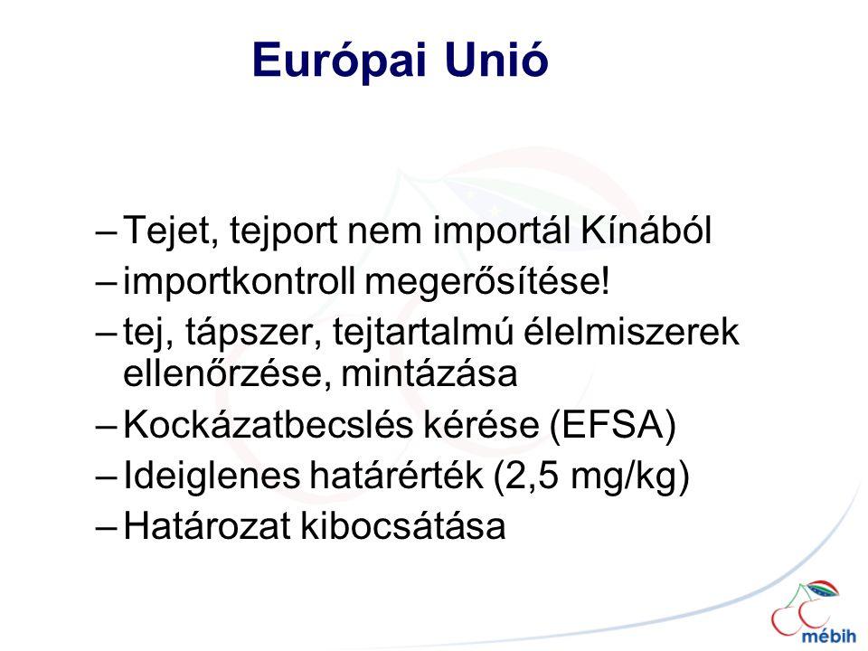 Európai Unió Tejet, tejport nem importál Kínából