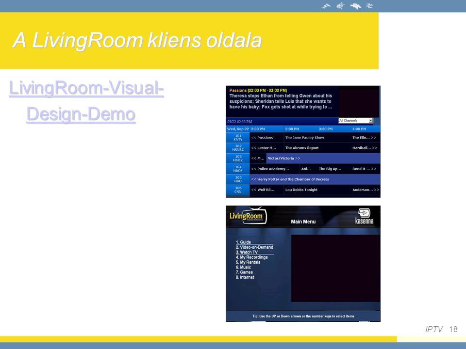 A LivingRoom kliens oldala