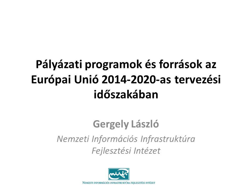 Gergely László Nemzeti Információs Infrastruktúra Fejlesztési Intézet