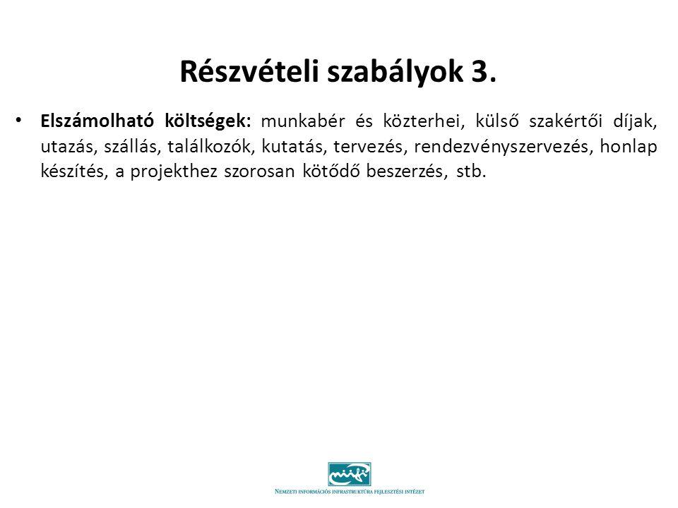 Részvételi szabályok 3.