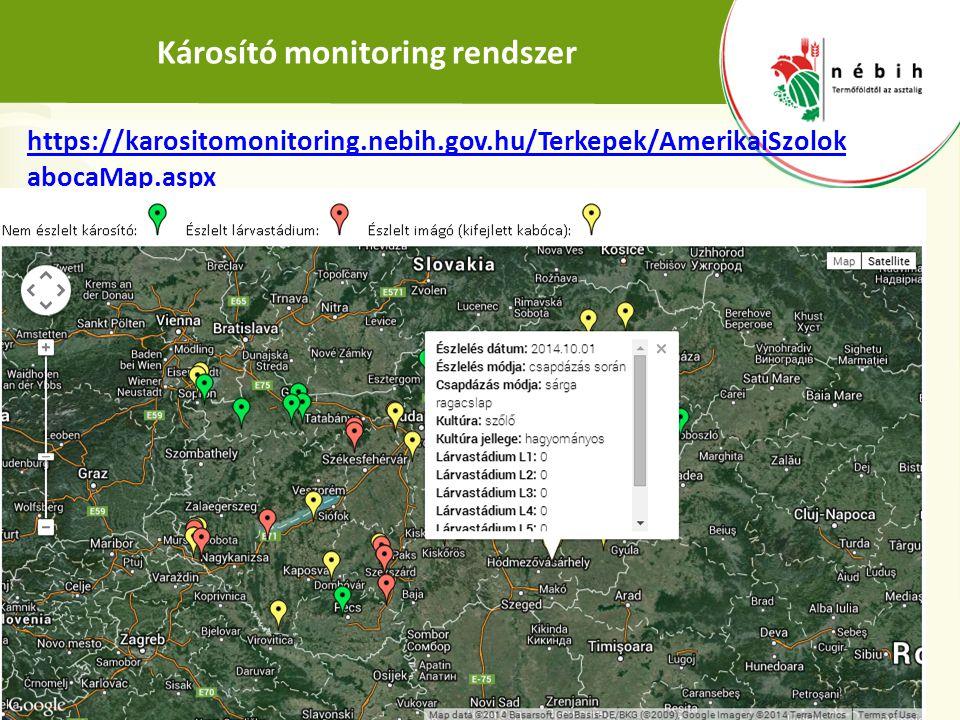 Károsító monitoring rendszer