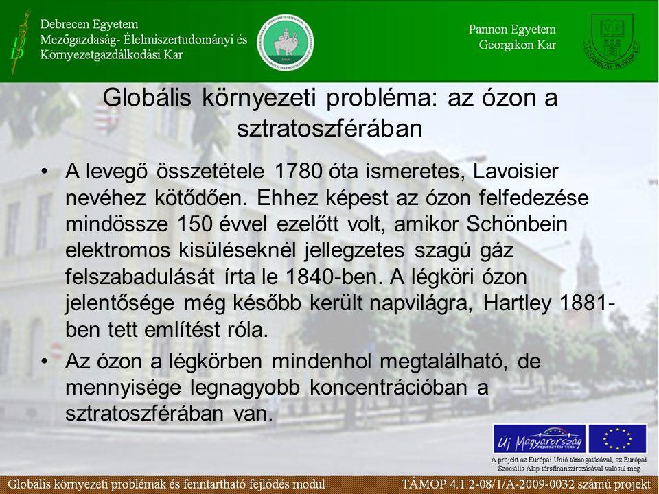 Globális környezeti probléma: az ózon a sztratoszférában