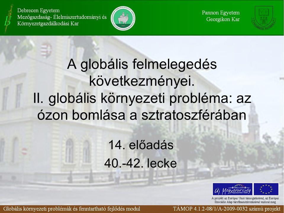 A globális felmelegedés következményei. II