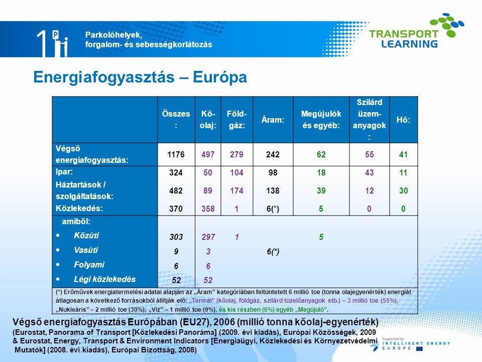 Energiafogyasztás – Európa