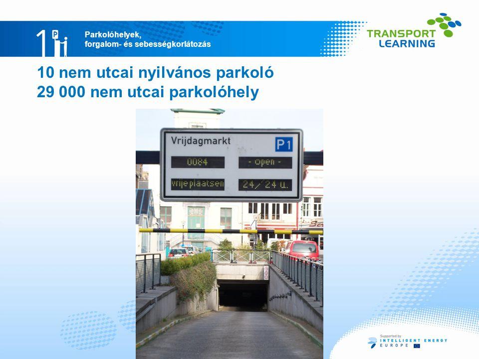 10 nem utcai nyilvános parkoló 29 000 nem utcai parkolóhely
