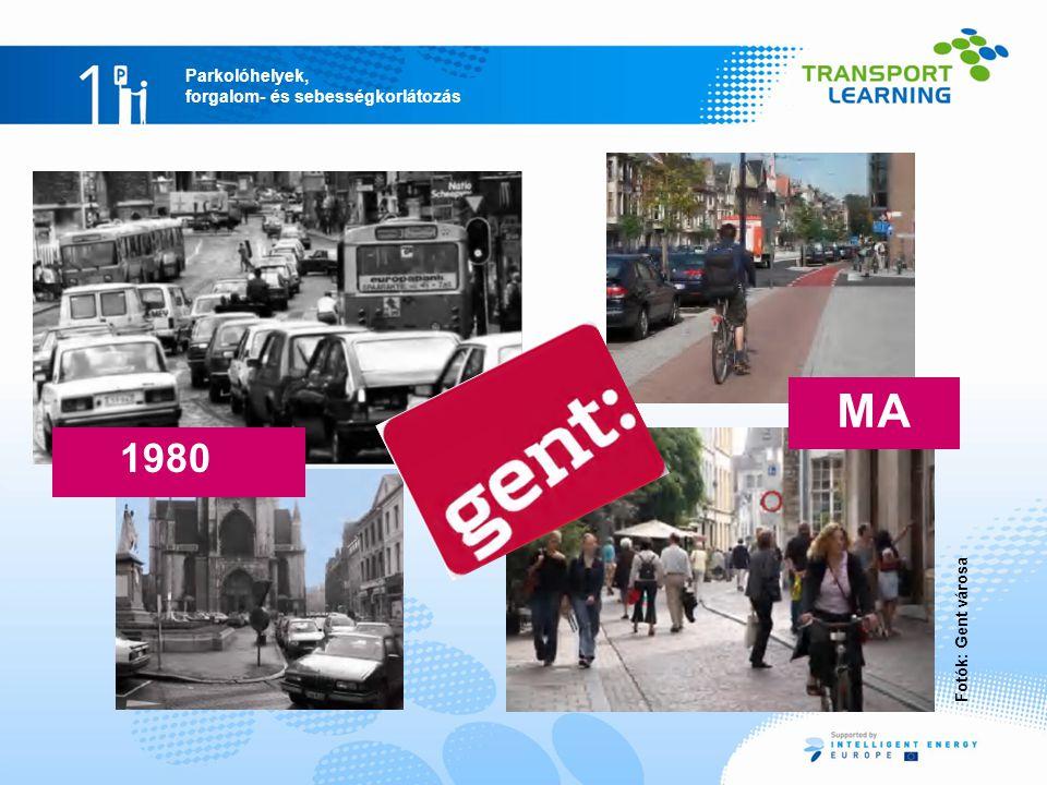 MA 1980 Mobilitási tervek Gentben 1987: belvárosi forgalmi terv