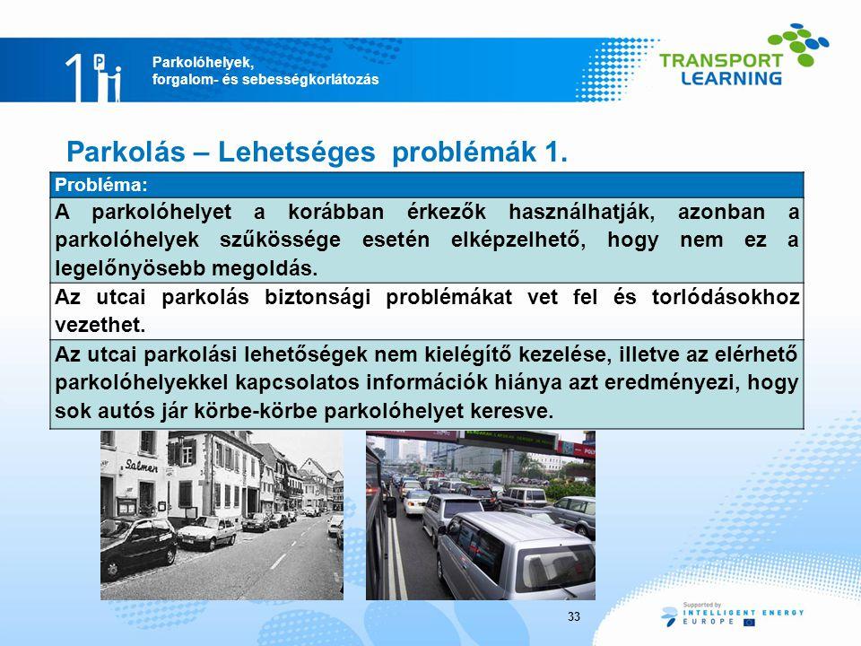Parkolás – Lehetséges problémák 1.