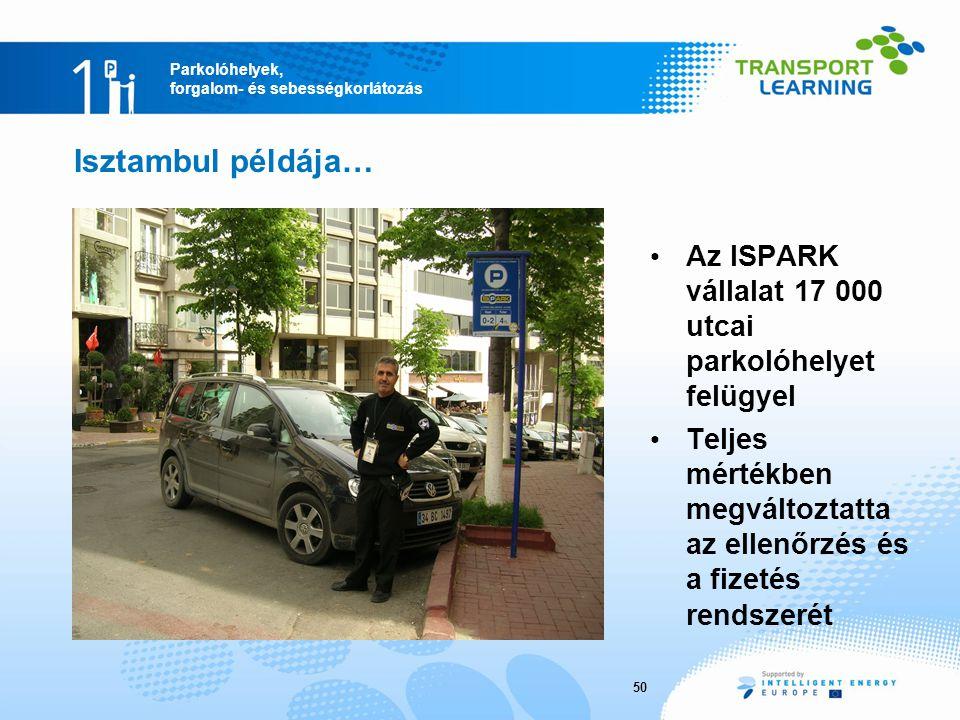Isztambul példája… Az ISPARK vállalat 17 000 utcai parkolóhelyet felügyel. Teljes mértékben megváltoztatta az ellenőrzés és a fizetés rendszerét.