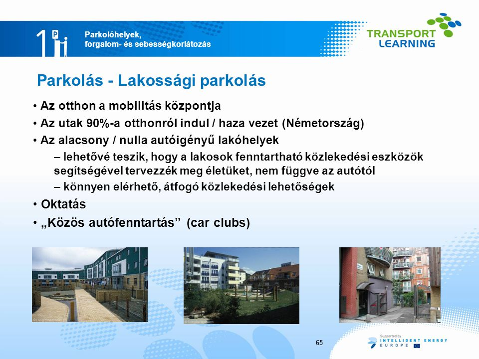 Parkolás - Lakossági parkolás
