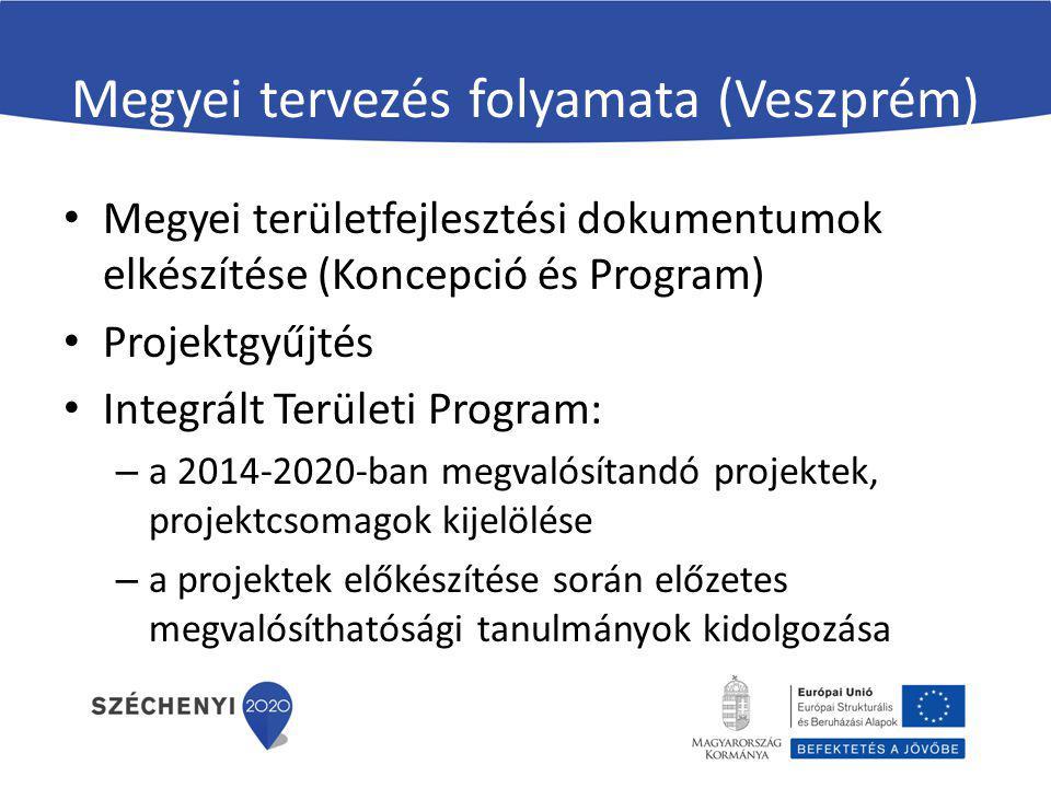 Megyei tervezés folyamata (Veszprém)