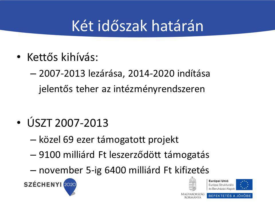 Két időszak határán Kettős kihívás: ÚSZT 2007-2013
