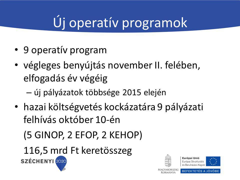Új operatív programok 9 operatív program