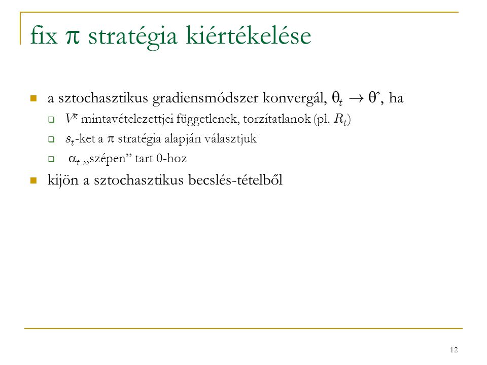 fix  stratégia kiértékelése