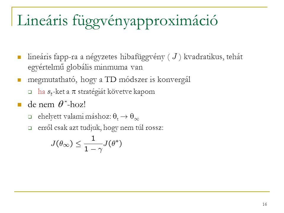Lineáris függvényapproximáció