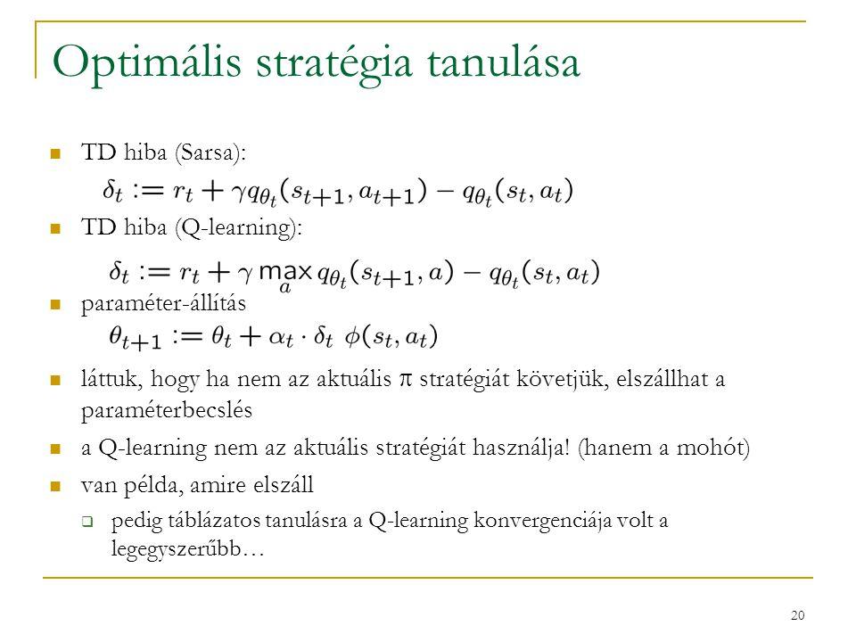 Optimális stratégia tanulása