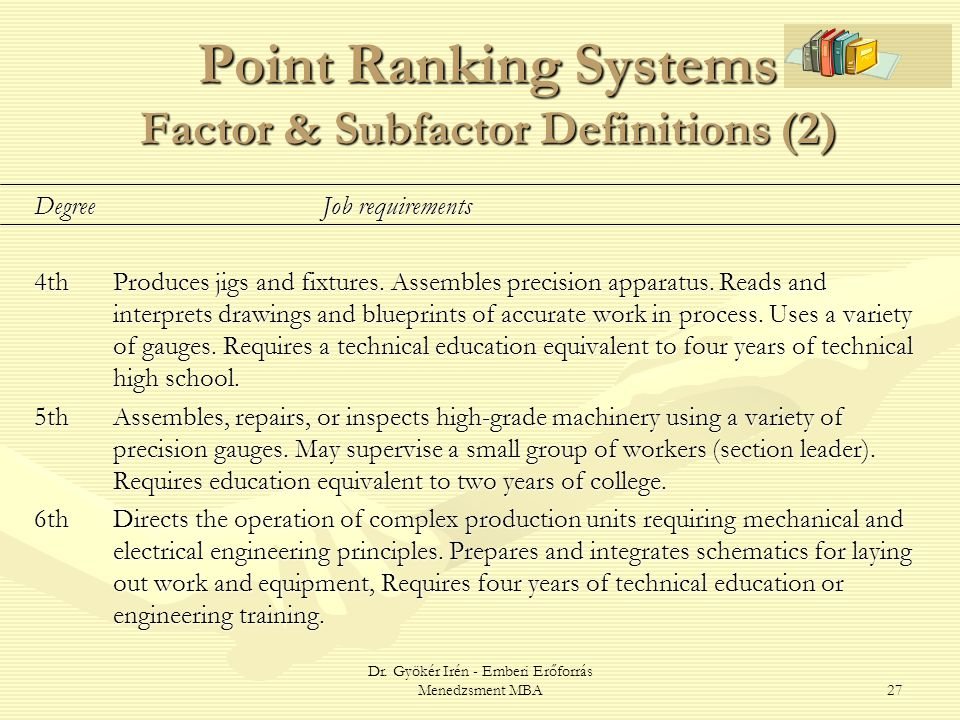 Point Ranking Systems Factor & Subfactor Definitions (2)