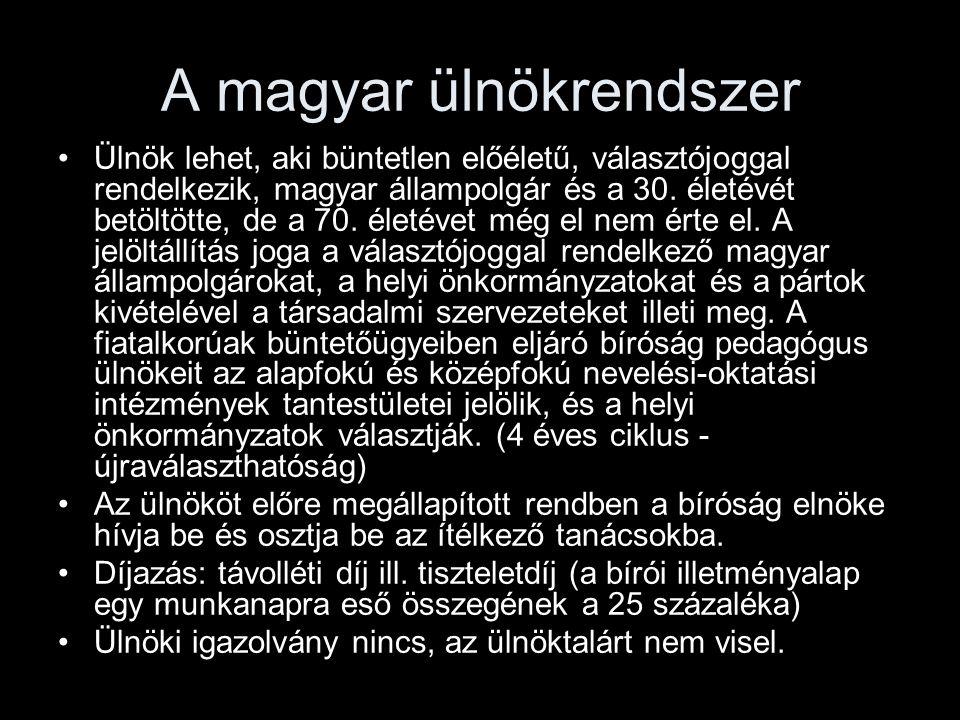 A magyar ülnökrendszer
