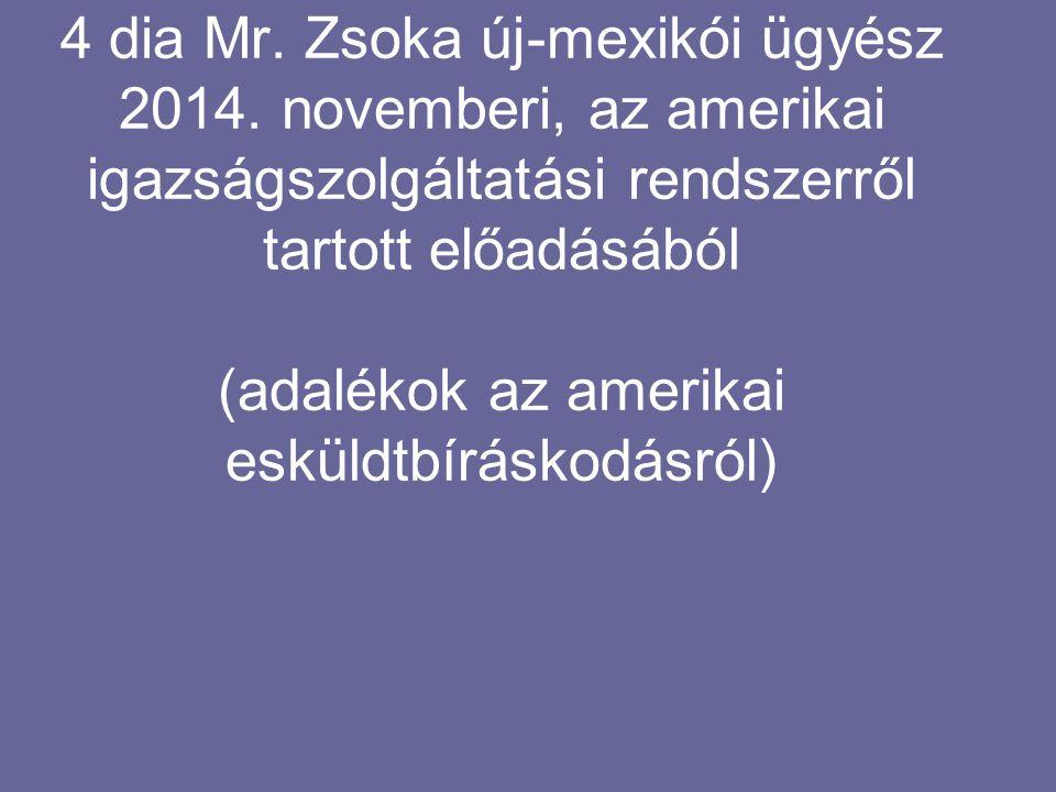 4 dia Mr. Zsoka új-mexikói ügyész 2014