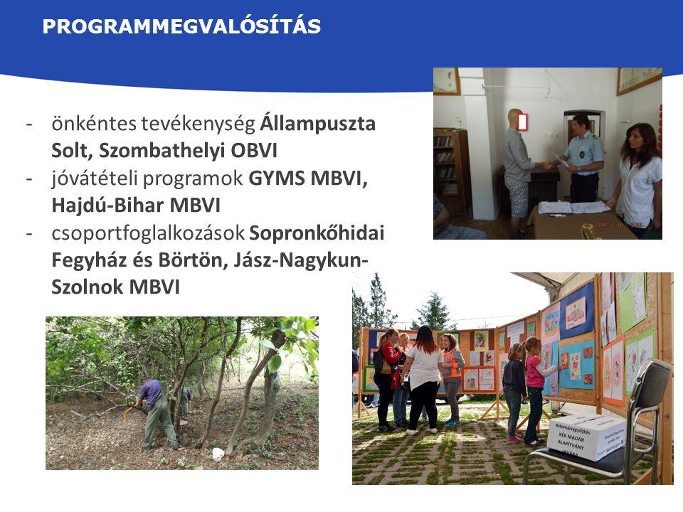 önkéntes tevékenység Állampuszta Solt, Szombathelyi OBVI