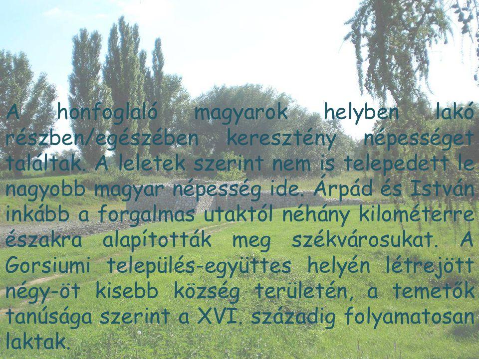 A honfoglaló magyarok helyben lakó részben/egészében keresztény népességet találtak.
