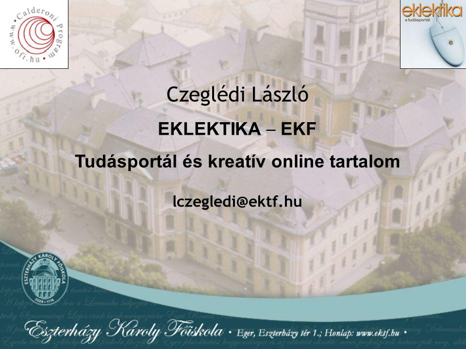 Tudásportál és kreatív online tartalom