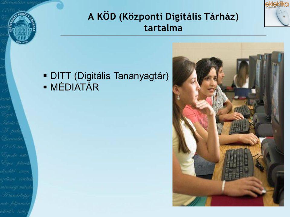 A KÖD (Központi Digitális Tárház) tartalma