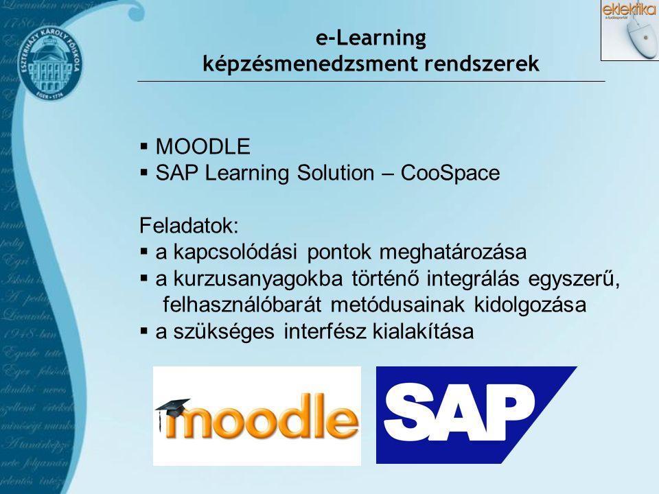 e-Learning képzésmenedzsment rendszerek