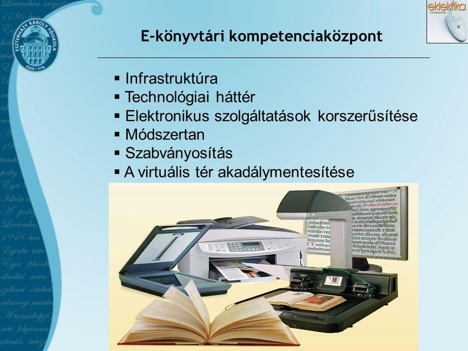 E-könyvtári kompetenciaközpont