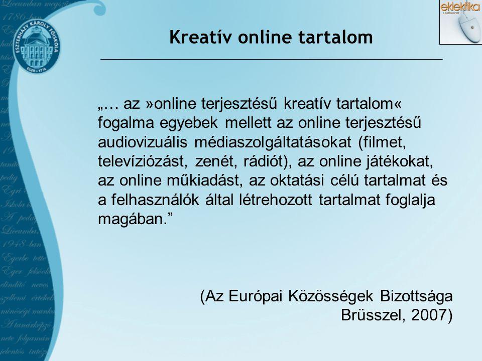 Kreatív online tartalom
