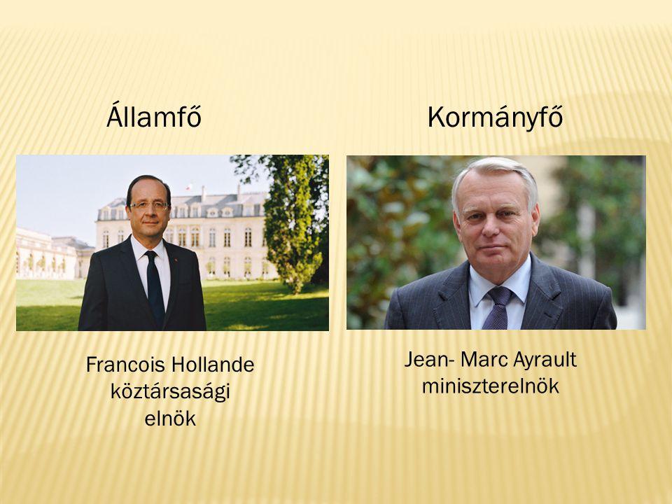 Államfő Kormányfő Jean- Marc Ayrault miniszterelnök