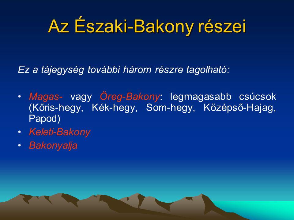 Az Északi-Bakony részei