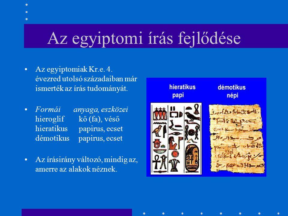 Az egyiptomi írás fejlődése